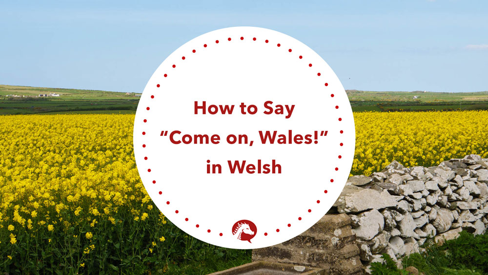 how to say come on wales in welsh